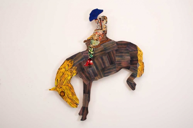 5-Year-Old Artist Riding a Stuffed Horse